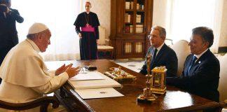 Reunión Uribe, Santos, Papa Francisco