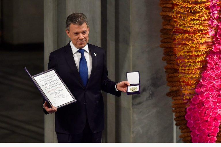 """""""El verdadero premio es la paz de mi país"""": Juan Manuel Santos"""