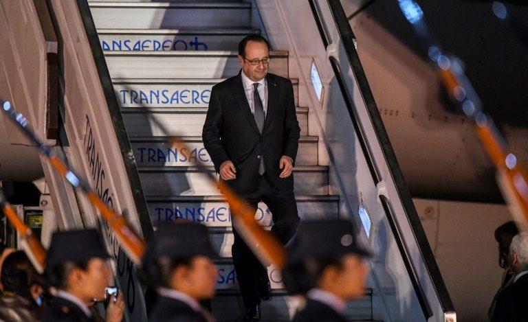 François Hollande está en Colombia.