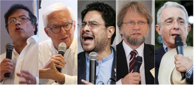 Petro, Robledo, Cepeda, Mockus y Uribe en el Congreso