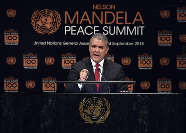 En Colombia trabajamos para hacer realidad los ideales de Nelson Mandela: Duque