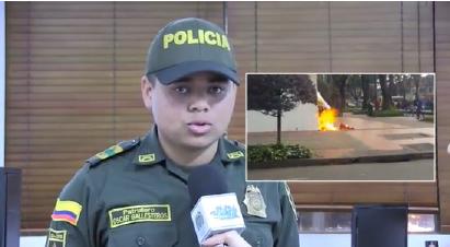 """""""Detrás del uniforme hay un ser humano"""", policía víctima de ataque de bomba con gasolina"""