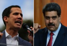 Nicolás Maduro reta a Guaidó