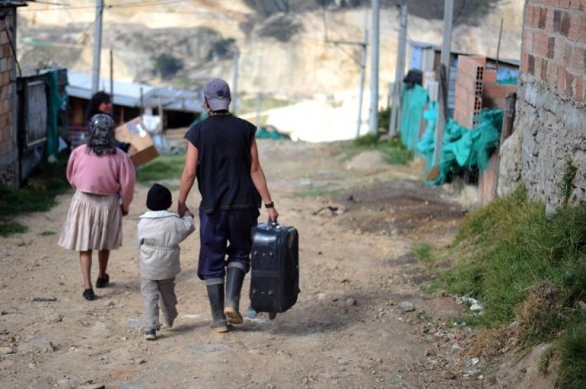 Desplazamiento en colombia van en aumento