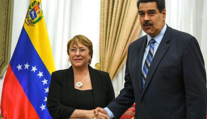 Mihelle Bachelet en venezuela