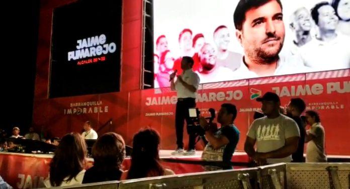 Pumarejo en la presentación de su plan de gobierno