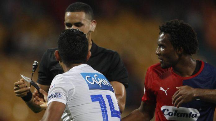 La Dimayor denunció al hombre que lanzó una navaja en el estadio