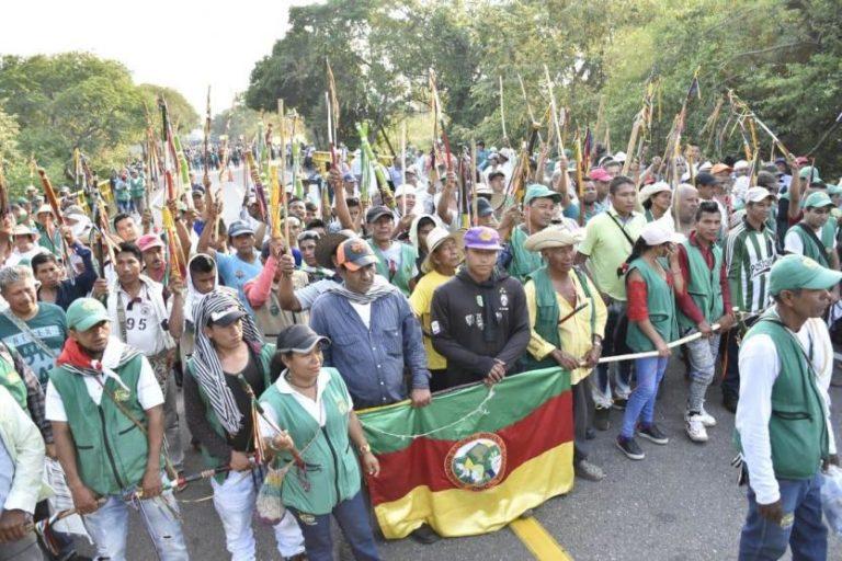 Indígenas se sumarán a las marchas desde Cauca hasta Bogotá