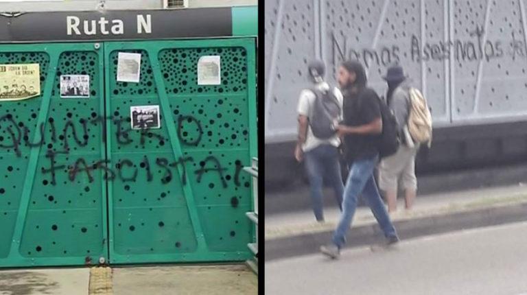 Estudiante de la U de A tendrá que pagar multa por rayar estación de Metroplús