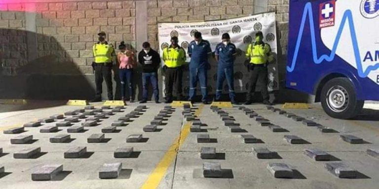 Cayó 'narco ambulancia' con 110 kilo de cocaína
