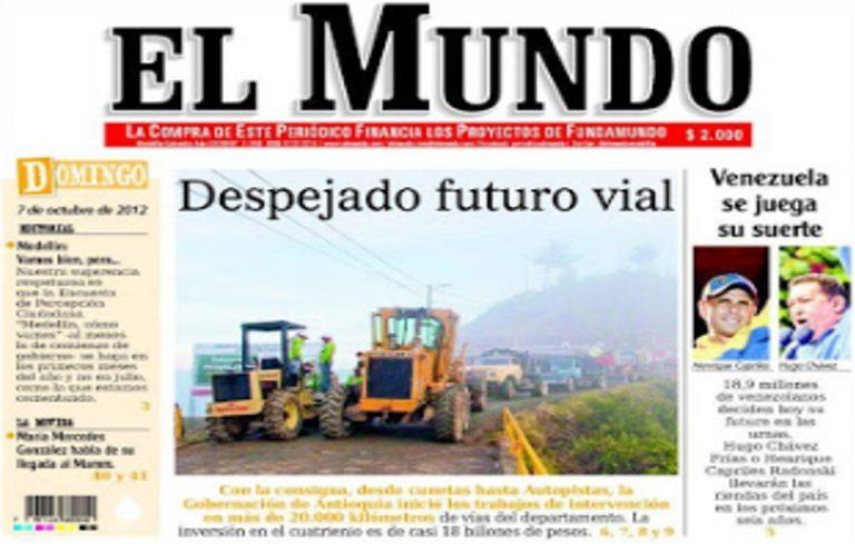 El períodico EL MUNDO anuncia cierre parcial de sus actividades