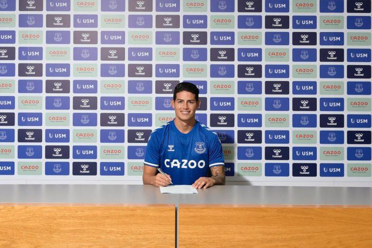 El Everton le da la bienvenida a James Rodríguez