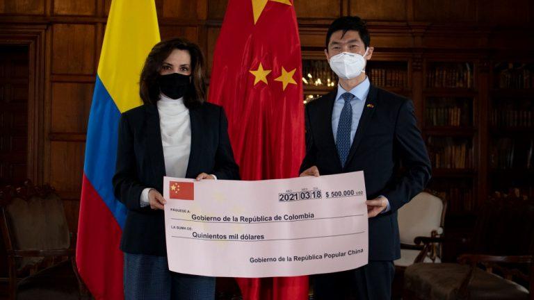 China donó US$500.000 para reconstruir San Andrés