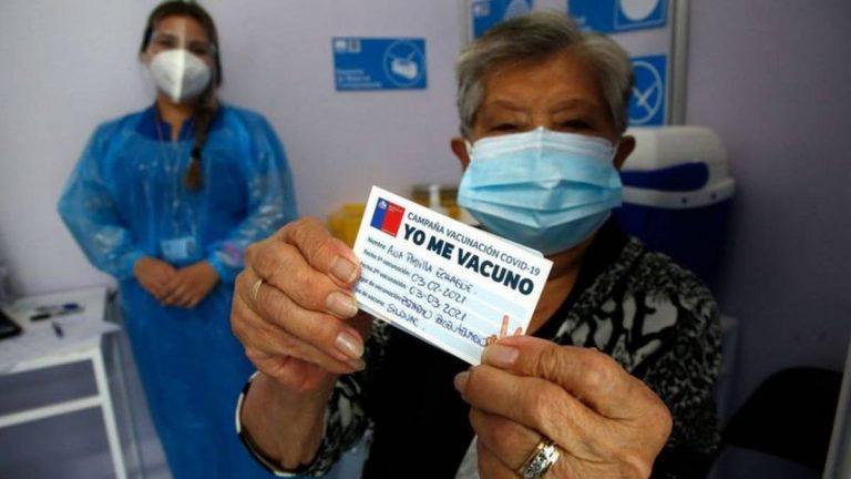 Chile lidera proceso de vacunación en América Latina