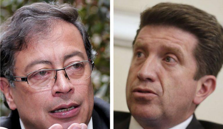 La discusión entre Diego Molano y Gustavo Petro, que representa la división actual del país