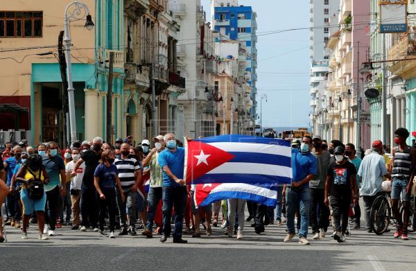 Protestas contra el régimen cubano