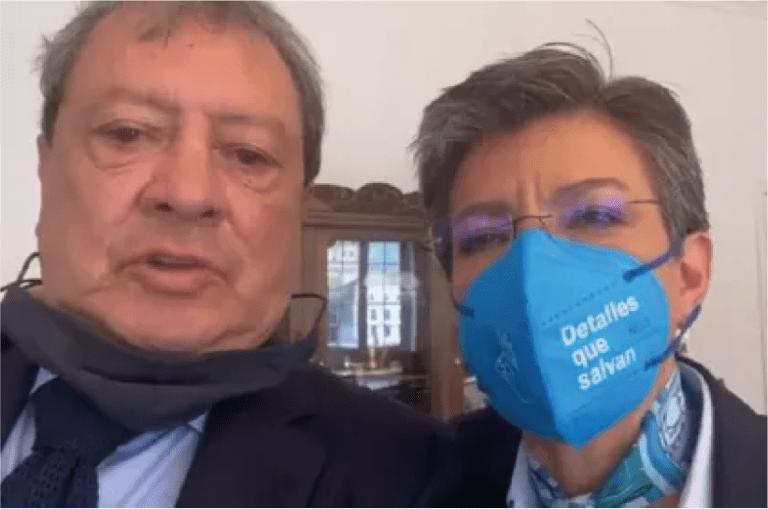 En vídeo: Claudia López y Mario Hernández se reconcilian tras polémicos trinos