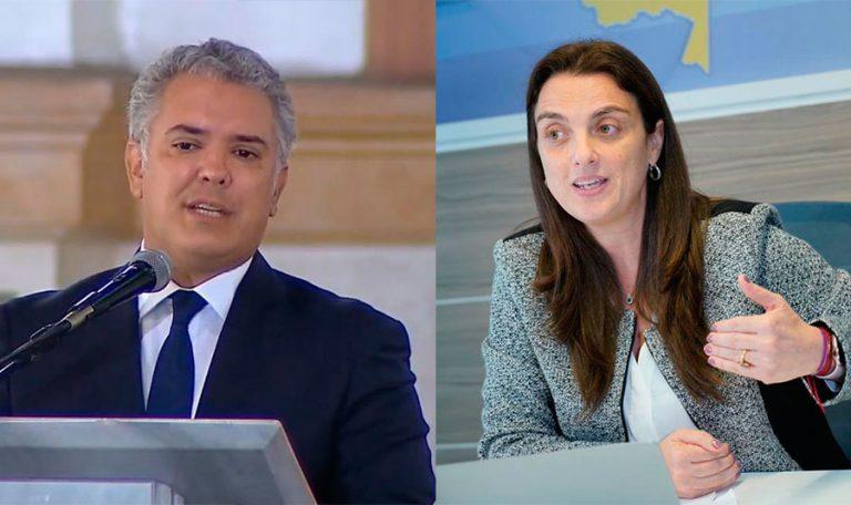 Presidente Duque respalda a la ministra Karen Abudinen