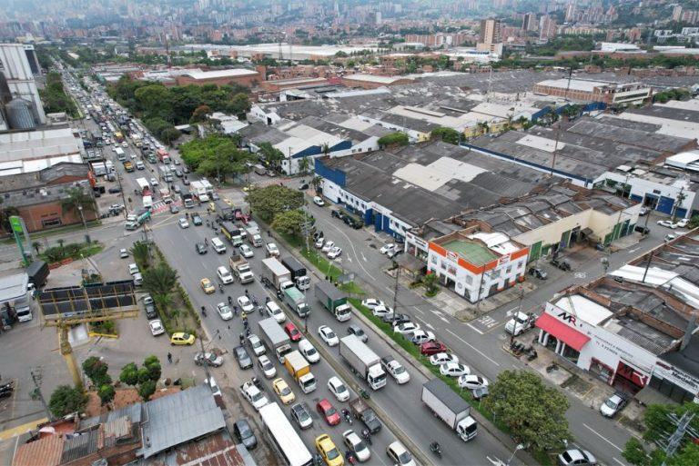 Itagüí le pondrá fin a la congestión en la Autopista Sur con dos nuevos intercambios viales