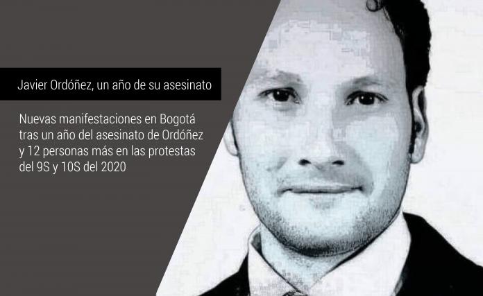 Nuevas manifestaciones en Bogotá tras un año de la muerte de Javier Ordóñez